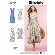8637 Simplicity Pattern: Misses' Wrap Dress